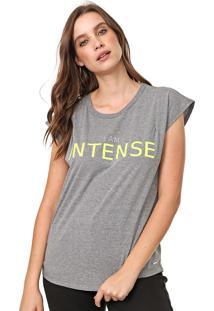 Camiseta Colcci I Am Intense Neon Cinza