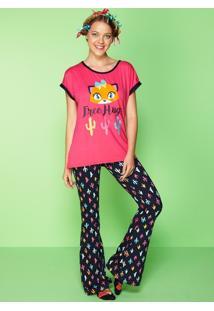 Pijama Visco E Cotton Light Cactos