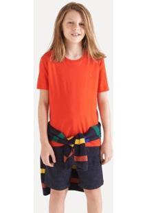 Camiseta Infantil Reserva Mini Pf Careca Masculina - Masculino-Vermelho