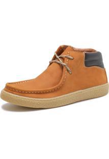 Bota Casual Over Boots Canadian Couro Nobuck Amarelo