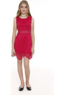 Vestido Teen Renda Metro Company U.S.A. Baellyne Pink