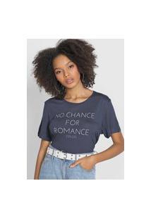 Camiseta Colcci No Chance For Romance Azul-Marinho