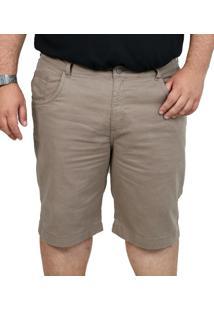 Bermuda Sarja Bigshirts Plus Size Kaki