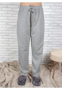 Calça Pijama Feminino Com Cordel Mescla