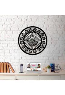 Escultura De Parede Wevans Mandala Clean + Espelho Decorativo