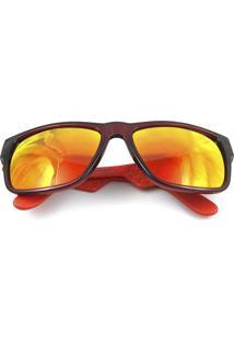 8eaaa44bf Óculos De Sol Carrera 5002S Preto Laranja Lente Espelhada