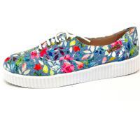 Kanui. Tênis Creeper Quality Shoes Floral Sola Branca 80f1b6dc6dcda
