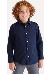 Camisa Mini Pf Ml Paraty Reserva Mini Azul