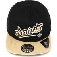 244827a83d Boné New Era Snapback New Orleans Saints Preto