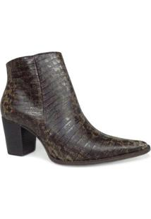 Bota Dina Mirtz Country Lisa - Feminino-Café