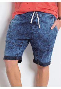 Bermuda Saruel Jeans Com Amarração