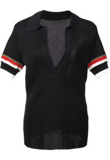 10d21d2becba9 Proenza Schouler Camisa Polo De Tricô Color Block - Preto