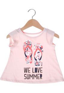 Camiseta Mineral Summer Infantil Rosa