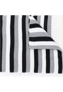 Sonia Rykiel Cachecol Listrado Longo De Lã - Cinza