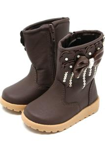 Bota Para Menina Paetes Sintetica infantil   Shoes4you abcdbd740c