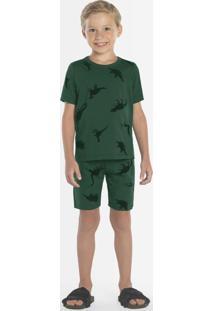Pijama Infantil Masculino Verde