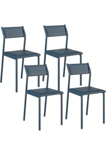 Cadeira 1709 Color Uv 04 Unidades Azul Noturno Carraro