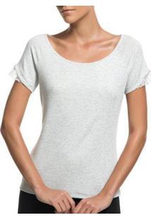 Camiseta Liz Easywear Manga Curta Feminina - Feminino-Cinza Claro