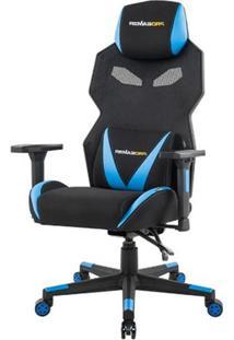 Cadeira Office Pro Gamer Z Preta Com Azul - 50117 - Sun House