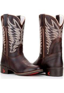 Bota Country Capelli Texana Rodeio Confortável Masculina - Masculino-Marrom