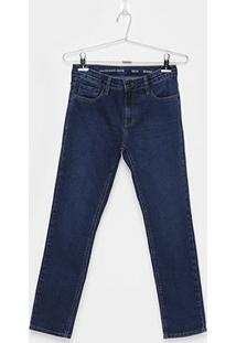 Calça Jeans Skinny Infantil Calvin Klein Five Pockets Masculina - Masculino-Marinho