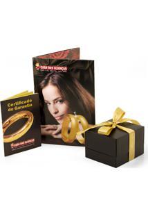 Gargantilha Em Ouro Galeria Quadrada Com Brilhantes - Gg18006