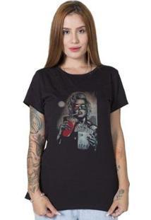 Camiseta Stoned Monroe 3D Feminina - Feminino-Preto