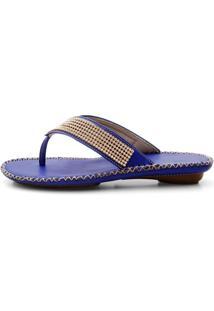 Rasteira Danflex Confort Azul - Azul - Feminino - Dafiti