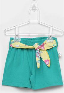 Short Infantil Andritex Cotton Feminino - Feminino-Verde