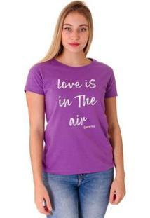 Camiseta Opera Rock T-Shirt Feminina - Feminino-Lilás