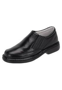 Sapato Em Couro Caparellus Conforto Preto