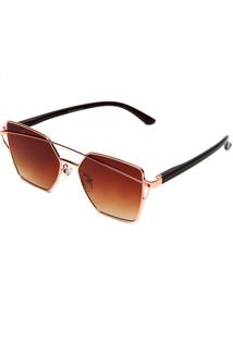Óculos De Sol Polo London Club Geométrico Bronze