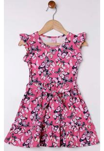 Vestido Cotton Infantil Para Menina Rosa