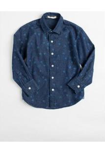 Camisa Mini Pf Jeans Apeu Infantil Reserva Mini Masculina - Masculino-Azul Petróleo
