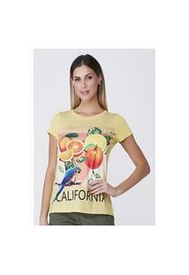 T-Shirt Celestine Estampada Amarela