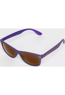 Óculos De Sol Retangular- Roxo   Marrom- Chilli Beanchilli Beans 082a42e061