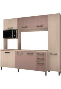 Cozinha Compacta Sol 7 Pt 3 Gv Amêndoa E Moka Azulejo
