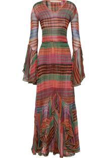 Vestido Longo Adalgiza - Laranja