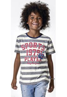 Camiseta Infantil Menino Em Malha De Algodão Com Modelagem Comfort Puc       d60f3af110f