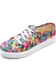 Tênis Dafiti Shoes Estampado Verde/Rosa