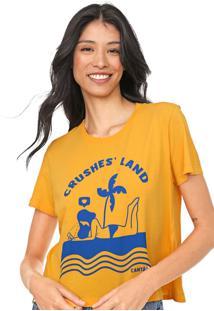 Camiseta Cantão Crushes Land Amarela