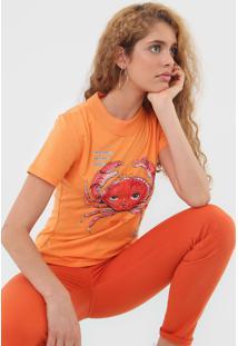 Camiseta Colcci Caranguejo Laranja