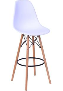 Banqueta Eames Dkr- Branca & Marrom- 106X56X56Cmor Design