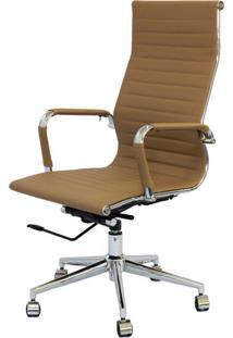 Cadeira Eames Alta Caramelo Base Cromada - 25608 Sun House