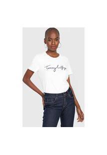 Camiseta Tommy Hilfiger Logo Branca