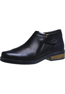 Botina Urbana Gel Anatômico Doctor Shoes 8825 Preto