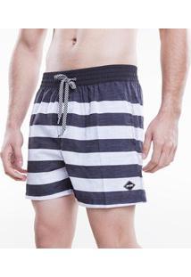Bermuda Voley Mormaii Sublimado Black And White Lines Masculino - Masculino