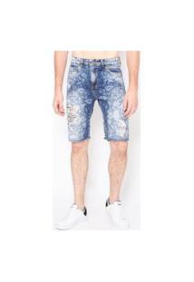 Bermuda Jeans Flowers
