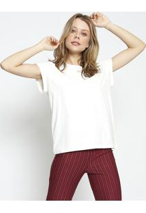 Camiseta Lisa Com Tag - Off White - Colccicolcci
