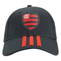 3781294e40c83 Boné Aba Curva Do Flamengo 3S Cap Adidas - Strapback - Adulto - Cinza Esc